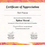Certificates Of Appreciation Template