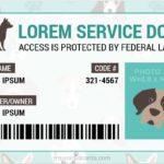 Service Dog Certificate Template