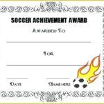Soccer Award Certificate Templates Free