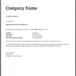 Template Of Certificate Of Employment