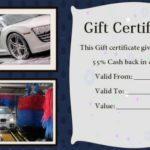 Automotive Gift Certificate Template