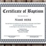 Baptism Certificate Template Download