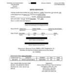 Birth Certificate Translation Template Uscis