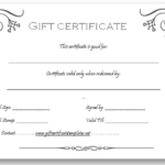 Black And White Gift Certificate Template Free