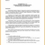 Chemistry Lab Report Template