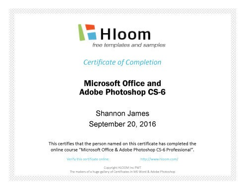 Free Completion Certificate Templates For Word