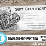 Free Photography Gift Certificate Template