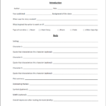 High School Book Report Template