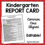 Kindergarten Report Card Template