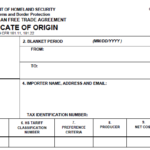 Nafta Certificate Template