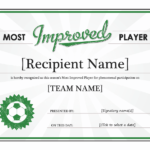Player Of The Day Certificate Template