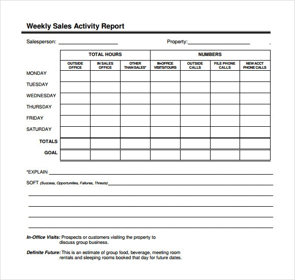 Sales Call Report Template