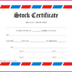 Share Certificate Template Australia