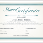 Share Certificate Template Companies House