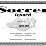 Soccer Certificate Template Free