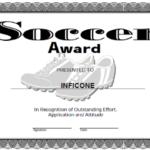 Soccer Certificate Template Free