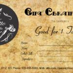 Tattoo Gift Certificate Template
