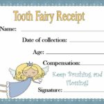 Tooth Fairy Certificate Template Free
