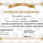 Word Template Certificate Of Achievement