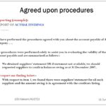 Agreed Upon Procedures Report Template
