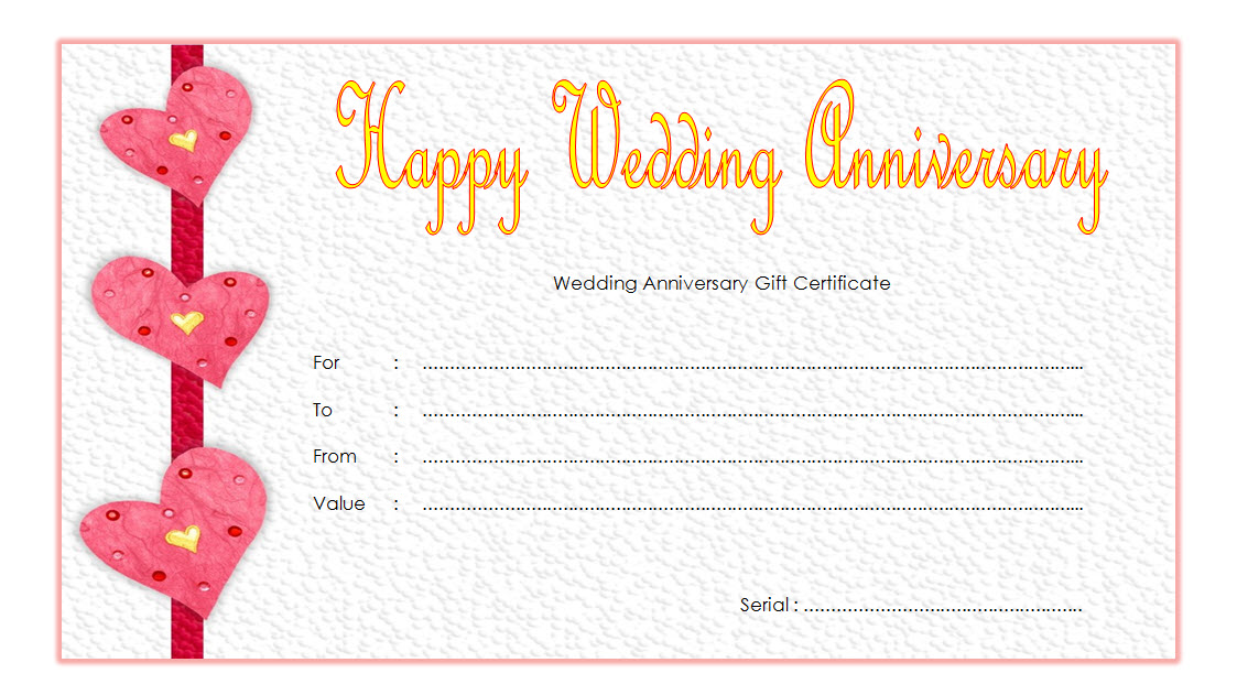 Anniversary Certificate Template Free