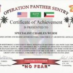 Army Certificate Of Achievement Template