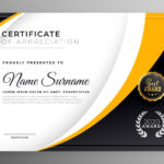 Award Certificate Design Template