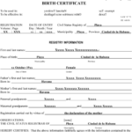 Birth Certificate Translation Template English To Spanish