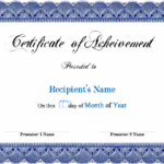 Blank Award Certificate Templates Word