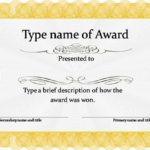 Blank Certificate Templates Free Download