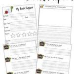 Book Report Template Grade 1