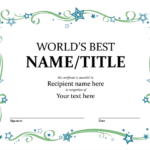 Borderless Certificate Templates