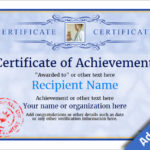 Certificate Of Accomplishment Template Free