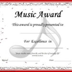 Choir Certificate Template