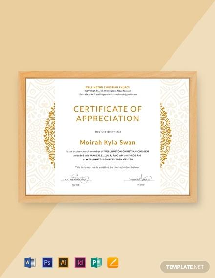 Farewell Certificate Template