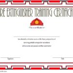 Fire Extinguisher Certificate Template