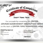 Free Certificate Of Completion Template Word