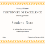 Free Student Certificate Templates