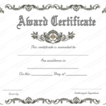 Free Template For Certificate Of Recognition