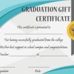 Graduation Gift Certificate Template Free