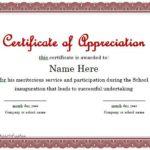 Gratitude Certificate Template