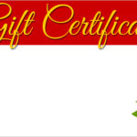 Homemade Christmas Gift Certificates Templates