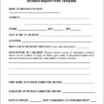 Itil Incident Report Form Template
