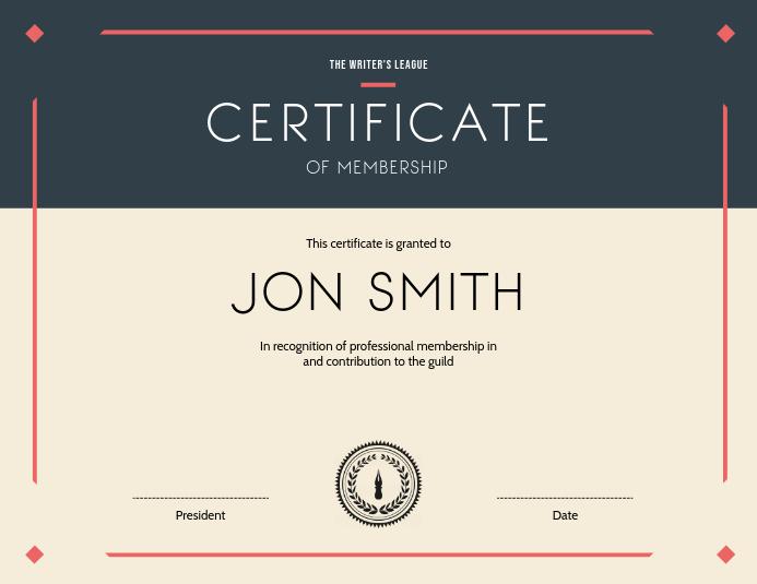 Landscape Certificate Templates