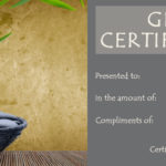 Massage Gift Certificate Template Free Printable