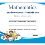 Math Certificate Template
