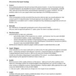 Monitoring And Evaluation Report Template