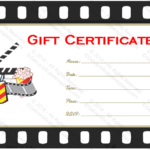 Movie Gift Certificate Template