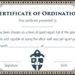 Ordination Certificate Templates
