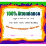 Perfect Attendance Certificate Free Template